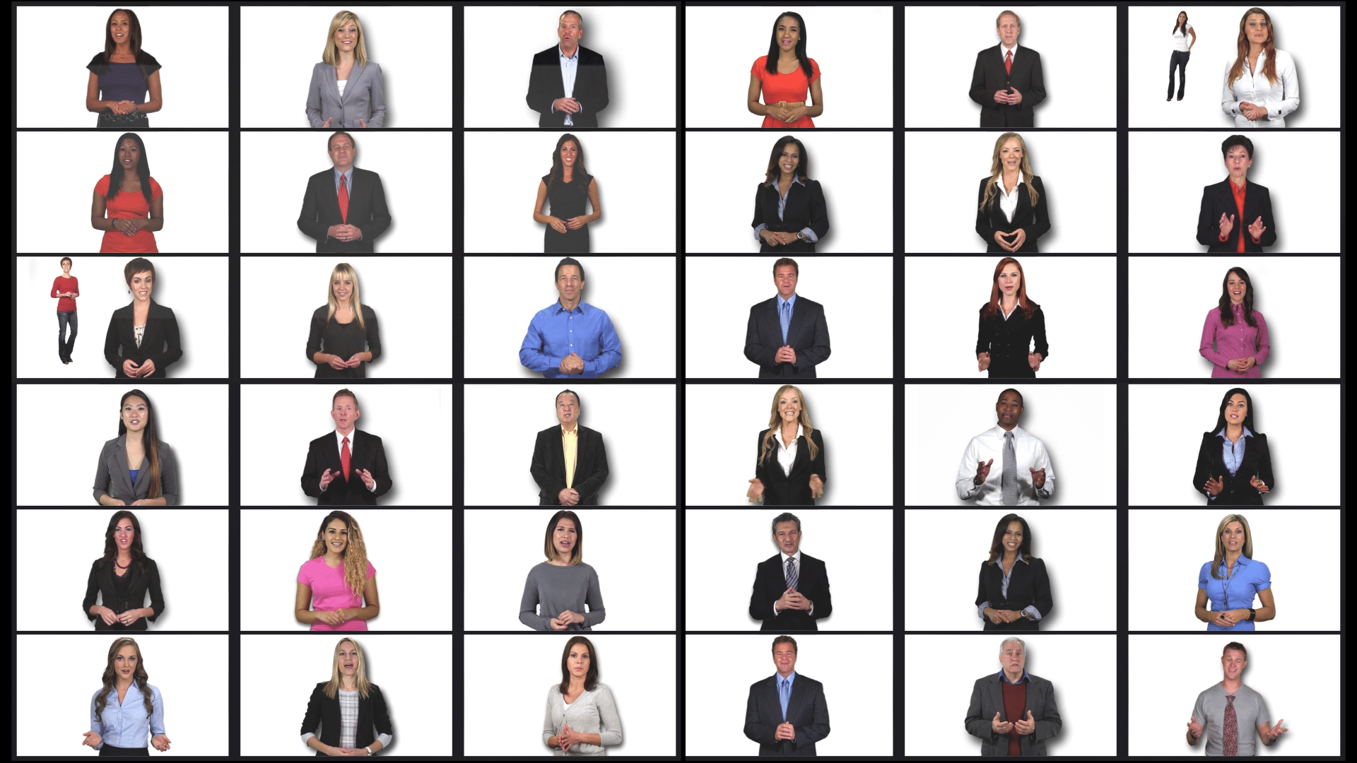 Wall of Video Video Spokespeople-Here are just a few of the Website Spokesperson we have used in our videos